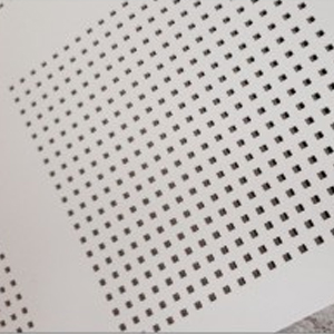Perforating sound absorbing gypsum board